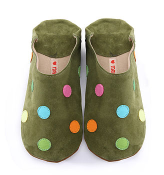 Green & Colours Polka Dot Shoes , Slippers