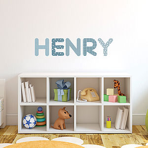 Personalised Boys Name Wall Stickers - wall stickers