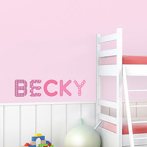 Personalised Girls Name Wall Stickers