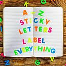 Neon Sticky Alphabet Letters