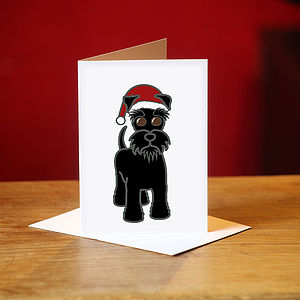 Schnauzer Christmas Cards In Black - cards & wrap