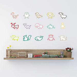 Simple Animal Wall Stickers