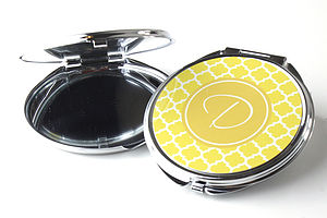 Personalised Compact Pocket Mirror Quatrefoil