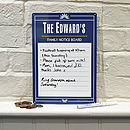 Personalised Enamel Style Notice Board