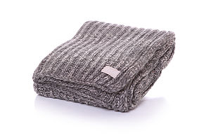 Fishermans Jumper Weave Bed Throw - throws, blankets & fabric