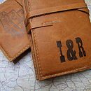 Bicycle Print Leather Journal