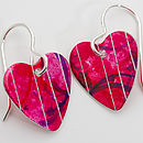 Aluminium Heart Earrings