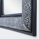 Antique Silver Embossed Mirror