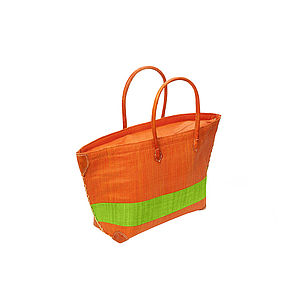Madge Striped Woven Tote Bag