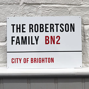 Personalised Metal Street Sign - new home gifts