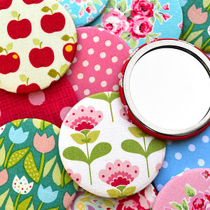 'Slight Seconds' Pack Of Floral Compact Mirrors - beauty accessories
