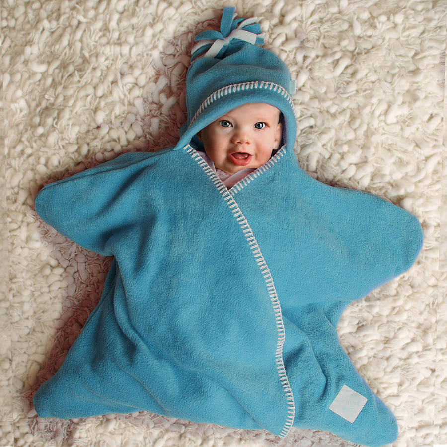 Star Fleece Baby Wrap By Tuppence And Crumble