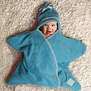 Turquoise Star Fleece Baby Wrap