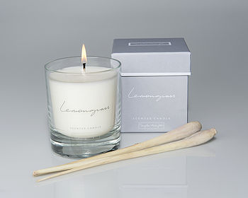 Lemongrass Scented Candle In A Glass