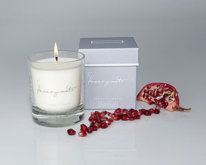 Pomegranate Scented Candle In A Glass