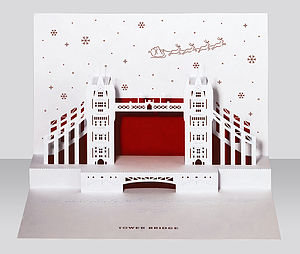 Tower Bridge Pop Up Christmas Card - cards