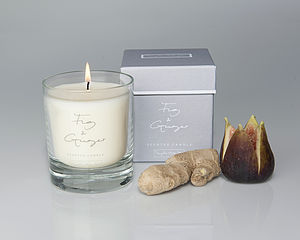 Fig And Ginger Scented Candle In A Glass - candles & candlesticks