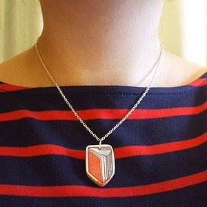 Book Necklace - book-lover