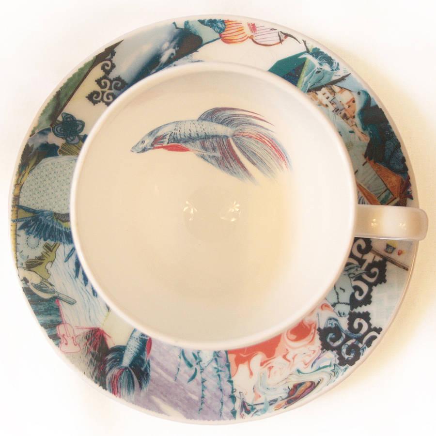 fine bone china resort tea set service by jenny collicott. Black Bedroom Furniture Sets. Home Design Ideas