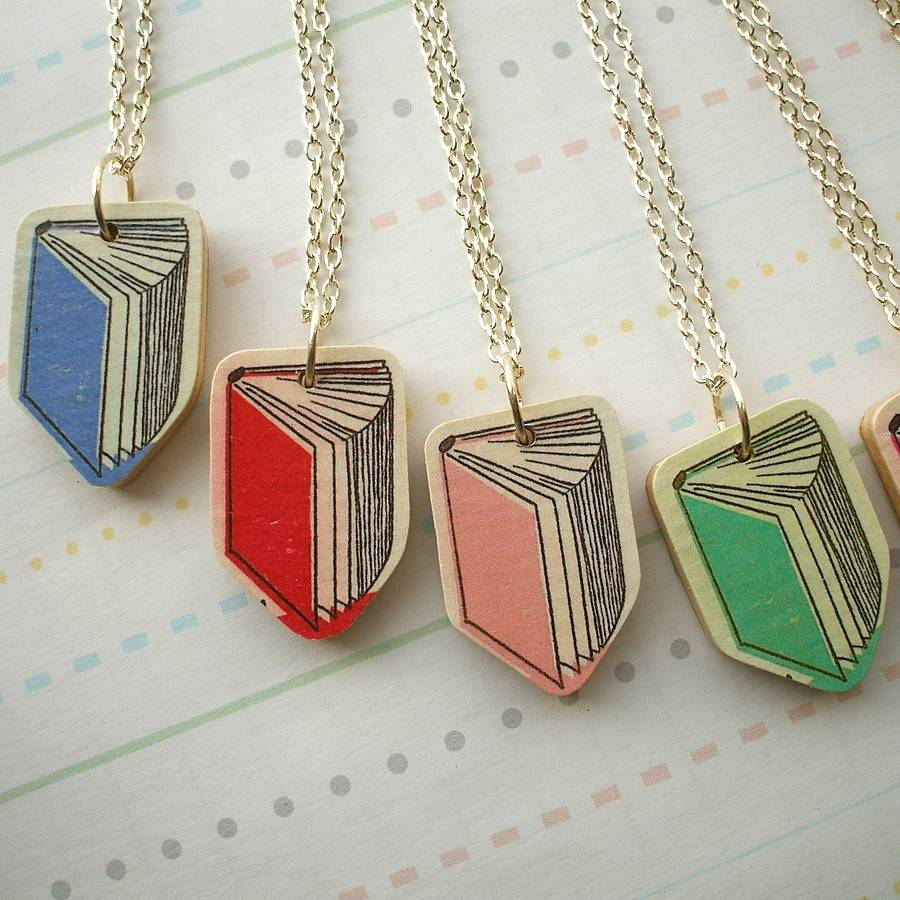 book necklace by notonthehighstreet