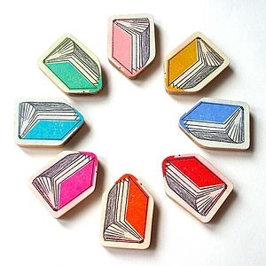 Book Brooch - pins & brooches