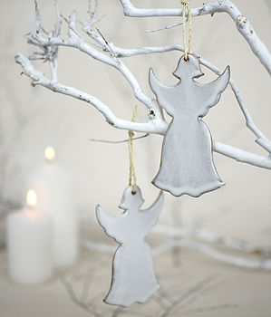 Ceramic Christmas Angel Tree Decoration