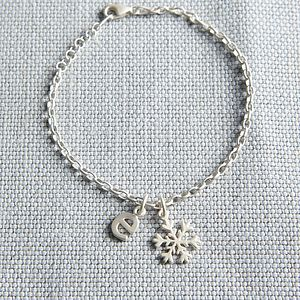 Silver Snowflake Charm Bracelet - christmas clothing & accessories