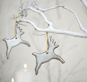 Ceramic Reindeer Christmas Tree Decoration - tree toppers