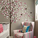 Wind Swept Tree With Birds Wall Sticker