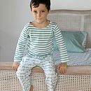 Tractor Striped T Shirt Pyjama