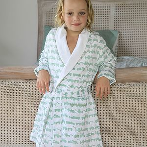 Tractor Green Dressing Gown - nightwear
