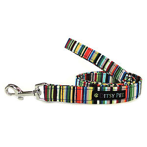 Joseph Striped Dog Lead - pet leads & harnesses