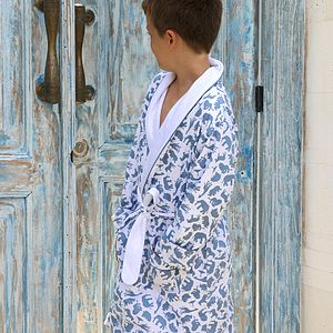 Safari Blue Dressing Gown - nightwear