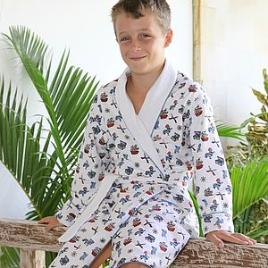 Pirate Print Dressing Gown
