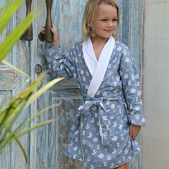 Blue Pirate Dressing Gown