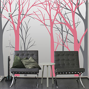 Woodland Treescape Wall Sticker