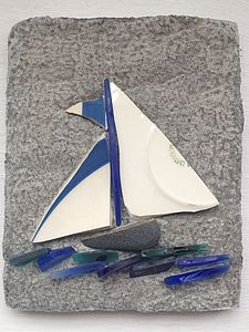 Pointed Sail Of Cornishware - art & decorations