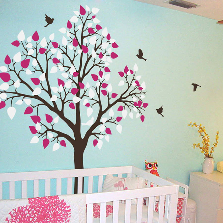 Exceptional Single Tree With Birds Flying Wall Sticker Decorative  Accessories Part 19