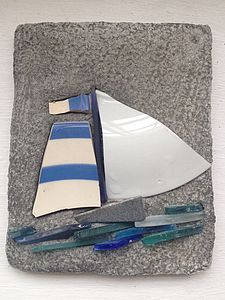 Cornishware Boat - art & decorations