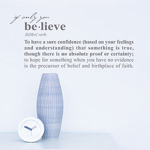 Believe Definition Wall Sticker Decoration - wall stickers
