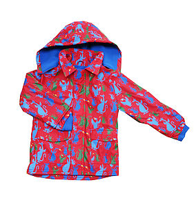 Childrens Raincoat In Red Dragon Design - coats & jackets