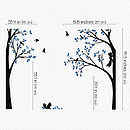 Trees With Birds And Squirrels Sticker