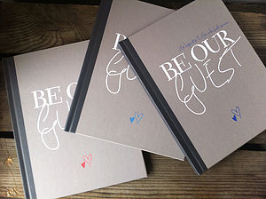 Personalised Wedding Guest Book By Illustries - albums & guest books