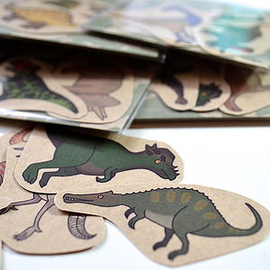 Dinosaur Temporary Tattoos Set Of Three - toys & games