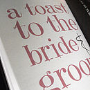 Personalised Wedding Guest Book By Illustries
