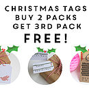 Charity Christmas Gift Tag Multi Buy Offer