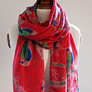 Red Parrot Scarf