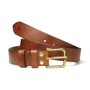 Personalised Oak Bark Leather Belt