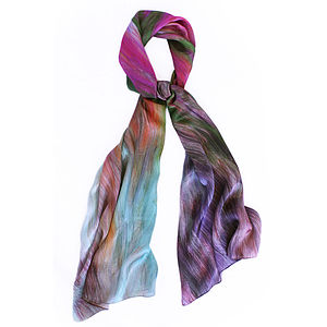 Lirio Silk Satin Chiffon Scarf - women's accessories