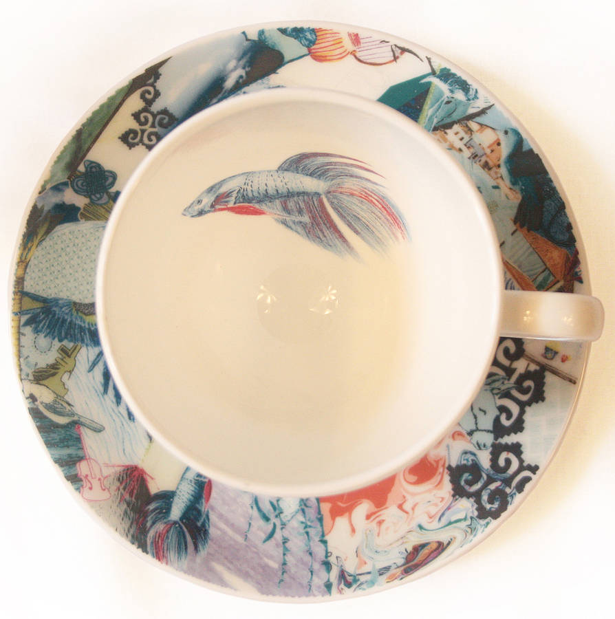 1aa457d096 fine bone china tea cup and saucer set by jenny collicott ...